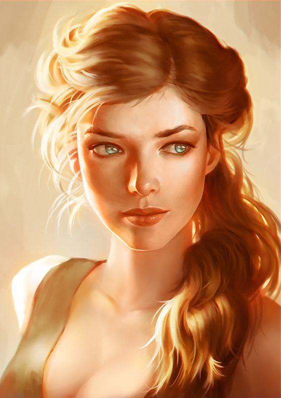 Ritratto di una bellissima donna bionda