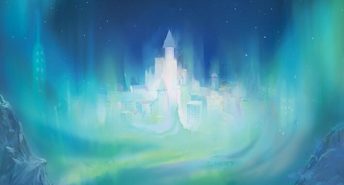 la città nell'Aurora - la bussola d'oro